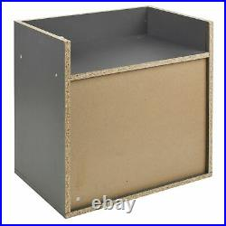 1 Drawer Compact Wooden Side Table Bedroom Bedside Cabinet Furniture Nightstand