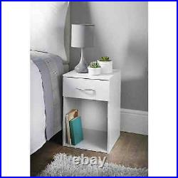 1 Drawer Wooden Bedside Table Cabinet Bedroom Furniture Storage Night Stand New