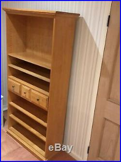 1x solid pine wooden shelving unit for sale