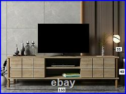 ALORA Modern TV Cabinet Stand Unit Wooden Media Storage Space Shelves, up to 70