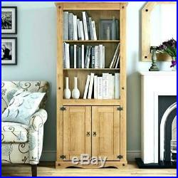 Antique Large Bookcase Tall Display Unit Cabinet Wooden Book Shelf DVD Storage