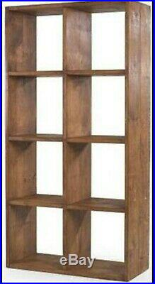 Any size made CHUNKY STYLE SOLID WOODEN CUBE BOOKCASE SHELF RUSTIC PLANK PINE