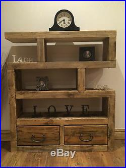 Bespoke Handmade Rustic Style Solid Wooden Shelving Unit / Bookcase