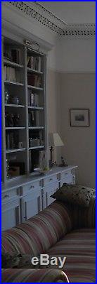Bespoke very large grey painted wooden dresser/bookcase