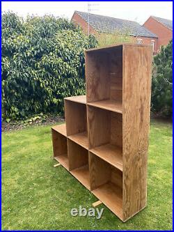 Cube, 3 Tier Wooden Bookcase Shelving Display Storage Shelf Unit