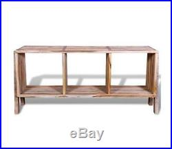 Display Tv Stand Side Board Table Square Cube Wooden Shelves Backless Room Unit
