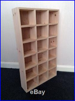 Eighteen Compartment Pigeon Hole Shelf 18 Compartments Mug Storage Unit Cubby Wooden