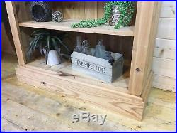 Farmhouse rustic solid pine wooden shaker tall large bookcase shelving unit