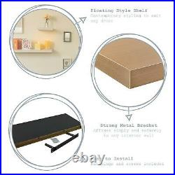 Floating Wall Shelf Wooden Shelves Wall Storage 120cm White Pack of 6