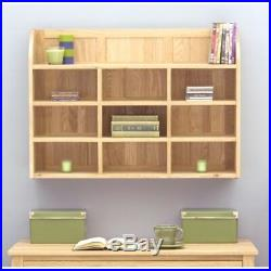 Fusion Solid Oak Wooden Furniture Wall Mounted Shelving Bookcase Display Unit