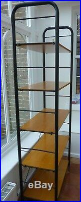 HEALS Wood and Metal Large & Strong Book Shelf / Storage / Display Unit