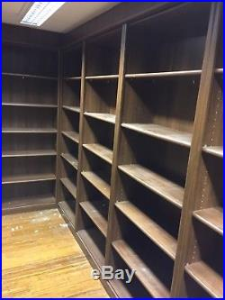 Hammonds of Leicester Brown Wood Fitted Home Office Book Shelves Units Cabinets