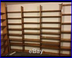 Huge Amount of Large Wooden Pine Wall Mounted Shelf Storage Records Books