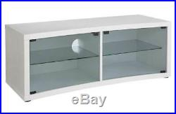 Hygena 2 Door Glass Shelf Wooden TV Stand Unit Table 36 46 42 50 Curved New