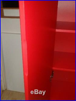 Ikea 1 x Black & 2 x Red Gloss Cupboards Storage Shelving Wooden Bookcase Units
