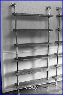 Industrial Chic Scaffold Pipe & Board Shelving Unit 80 X 210 (h)