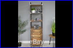 Industrial Rustic Wooden Tall Shelving Unit Display Bookcase Shelves (dx6343)