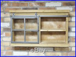 Industrial Style Storage Unit Wall Mounted Display Cupboard Shelving Cabinet New