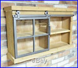 Industrial Wall Mounted Storage Unit Display Cupboard Shelving Cabinet Home Work
