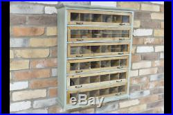 Industrial Wooden Unit Distressed Wall Mountable Cabinet 6 Drawers Storage Shelf