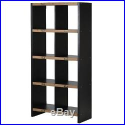 Industrial style wooden book shelf unit