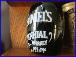 Jack Daniels Collection of 18 Shot Glasses with Wooden 3 Shelf Display Unit EUC