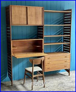 Ladderax String Shelving Unit Bookcase Bureau Wooden Ladders Drawers DELIVERY
