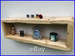 Large Rustic Reclaimed Wooden wall floating shelf cube storage CD rack bookcase