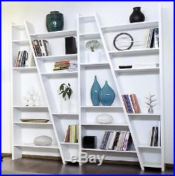 Large White Bookcase Tall Storage Unit Modern Room Furniture Display Divider New