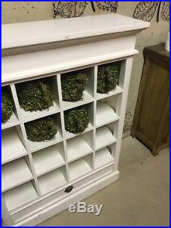Large White Wooden Book Shelve Display Cabinet, Storage, Unit