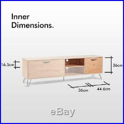 Large Wooden TV Stand Television Shelves Draws Storage Cabinet Unit Cupboard New