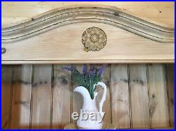 Large tall solid pine wooden bookcase dresser shelving unit display shelves