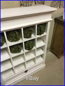 Large white wooden book shelve display cabinet, storage unit
