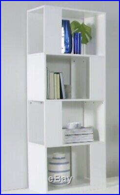 Made. Com Kya Bookcase Shelving Unit Free Standing Room Divider Wooden Grey
