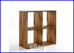 Maximo 4 Cross Cube Divider/Storage Shelving Occasional Solid Oak Wooden