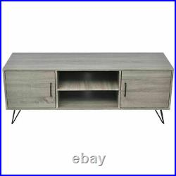 Modern TV Cabinet Stand Unit Wooden Media Storage Space Shelves With 2Doors 2Shelf