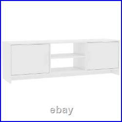 Modern TV Cabinet Stand Unit Wooden Media Storage Space Shelves With2 Doors Drawer