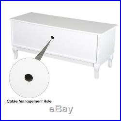 Modern Wooden TV Stand Unit Corner Table Display Storage Shelves With Drawer White
