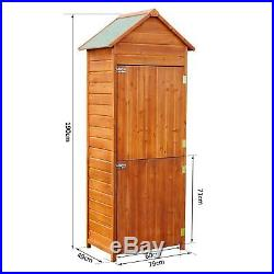 New Wooden Garden Shed Apex Sheds Tool Storage Cabinet Unit Utility with Shelves