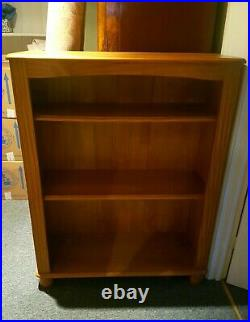 Pair of Large Solid Wooden Bookcases 4ft High x 3ft Wide Excellent Condition