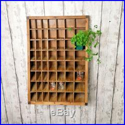 Pigeon Hole Wall Mounted Unit 56 Compartments Wooden Storage Shelves Shelving
