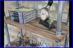 Pipe Shelves Wooden Display Racking Book Storage Shelving Unit 3 Tier Industrial