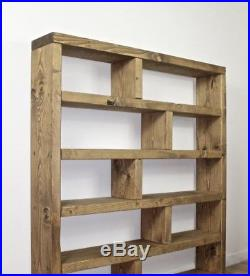 watch 5f34d bb212 Rustic Display Cabinet Large Shelving Unit Solid Wood ...