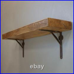 Rustic Floating Wooden Shelf Solid Reclaimed Chunky Wood Industrial Shelves