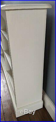 Rustic Vintage Bookcase Shelves Shelving Wooden Painted Annie Sloan Old White