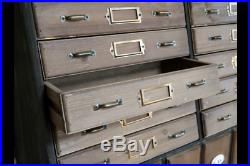 Rustic pigeon hole style Shelf Storage Unit Display Cabinet drawers Wooden