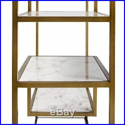 SOLD OUT Versanora Marmo Wooden Bookcase Book Shelf Storage Unit Marble VNF-0003