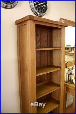 SOLID OAK LARGE NARROW BOOKCASE 65cm x 30cm x 180cm FREE DELIVERY
