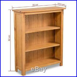 Solid Oak Bookcase Small Storage Unit Wooden Shelving Cabinet Rustic Furniture