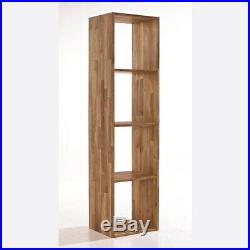 Solid Oak Wooden Multi Use Storage Cubes Shelving Unit Bookcase Display Cabinet